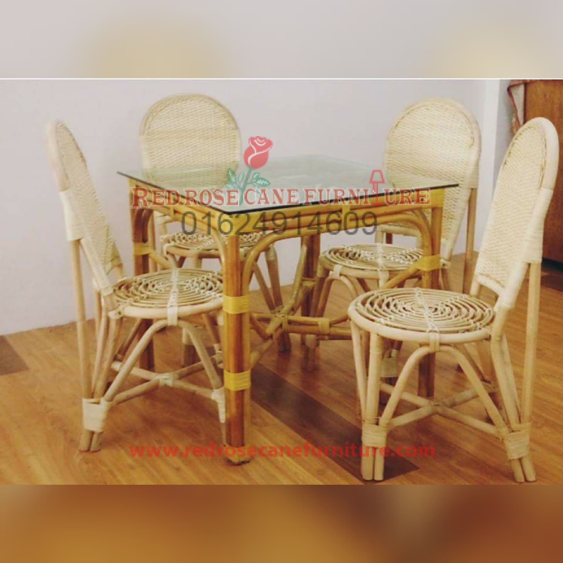 Cane Dining Table 08 Red Rose Cane Furniture Interior
