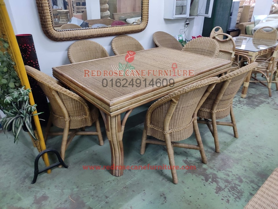 Cane Dining Table With Chair 12 Red Rose Cane Furniture Interior
