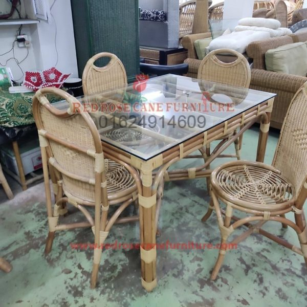 Cane Dining Table With Chair 14 Red Rose Cane Furniture Interior